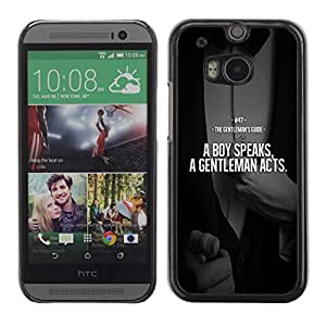 PC/Aluminum Funda Carcasa protectora para HTC One M8 Boy Gentleman Comparison Quote Suit / JUSTGO PHONE PROTECTOR