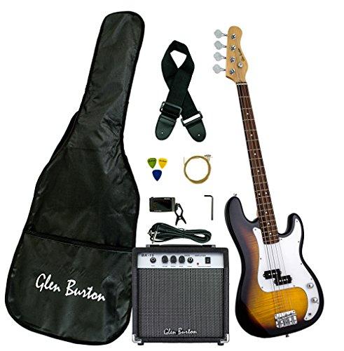 Burton Pack Amp (Glen Burton GB150BCO-TS Electric Bass Guitar, SG-Style , Tobacco Sunburst)