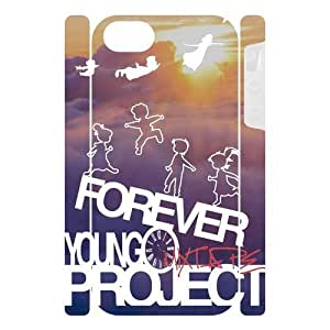 Canting_Good Forever Young sunset Custom Dual-Protective Case Cover Shell for IPhone 5 3D (New)