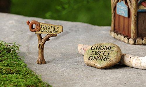 Miniature Garden Gnome Design Stepping Stone & Sign - Set of 2 Items