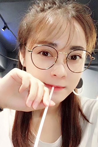 ca8ec02770 Image Unavailable. Image not available for. Color  Generic Eyeglass frame  retro wave of women girls lady Korean fashion pearl ...