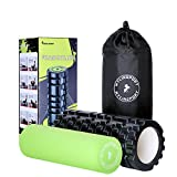 KYLIN SPORT 2 in 1 Foam Roller Deep Tissue Textured Trigger Point High density + Soft Smooth Yoga Roller for Muscle Myofascial Massage Physical Therapy Stretching Tension Release