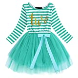Live It Style It Baby Birthday Dress Girls Party Outfit Kids Princess Dresses Toddler 1st 2nd 3rd Bday Tutu (Turquoise - Two)