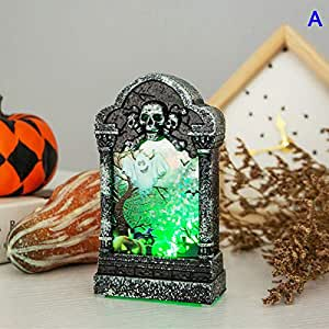 LED Night Light Halloween Decoration Glowing Tombstone Decoration Ornament Night Light for Halloween Party Bar
