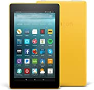 "Certified Refurbished Fire 7 Tablet (7"" display, 16 GB) - Canary Yellow with Special Offers (Previous Gen"