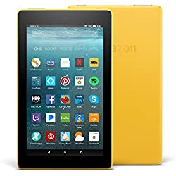 "All-New Fire 7 Tablet with Alexa, 7"" Display, 16 GB, Canary Yellow - with Special Offers"