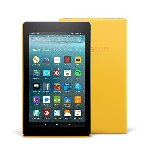 All-New Fire 7 Tablet with Alexa, 7' Display, 8 GB, Canary Yellow - with Special Offers