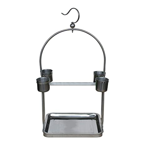ZZM Parrot Playstand, Bird Playground Acero Inoxidable ...