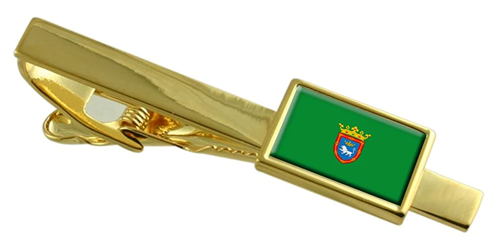 Pamplona City Spain Flag Gold-tone Tie Clip