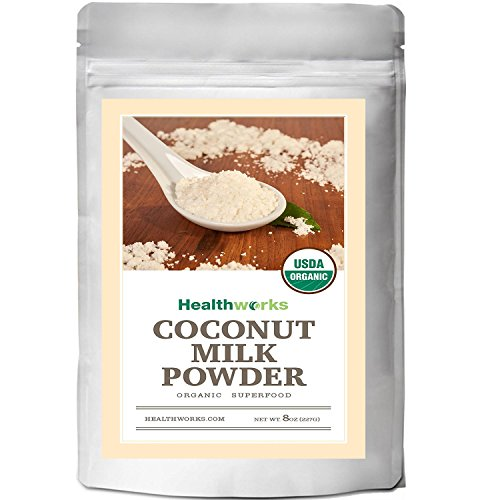 Healthworks Coconut Milk Powder Organic (Dairy Free), 8oz (Organic Powder Coconut Milk)