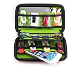 Chicone 2 Layer Cable Storage Hard Case Bag Water-resistant Electronic Accessories Organizer Travel Gadget Carry Bag