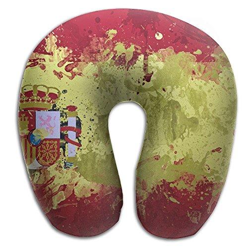 U Neck Pillow Airplane Office Travel Rest Spain Paiting Memory Foam U Shape Pillow by NDRYJ