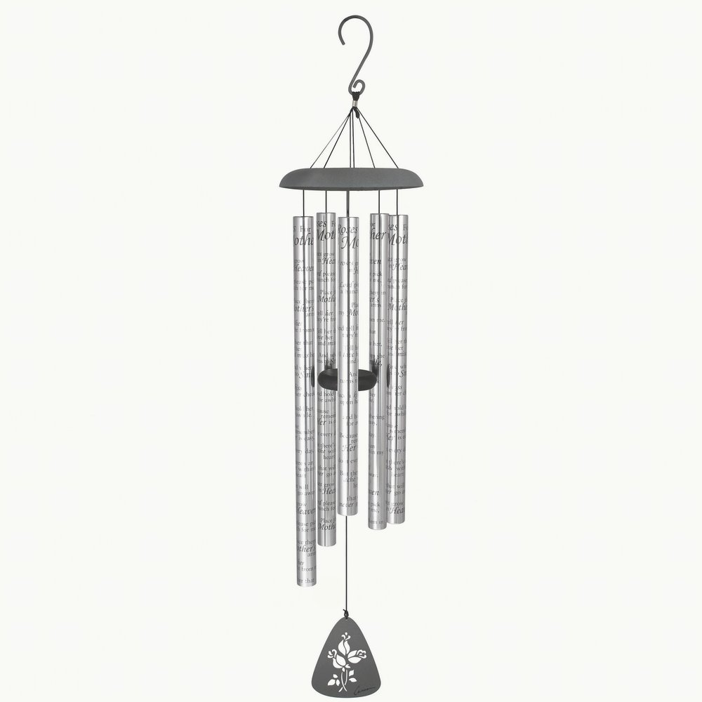 Carson Home Accents Sonnet Wind Chime, 44-Inch Length, Roses for Mother