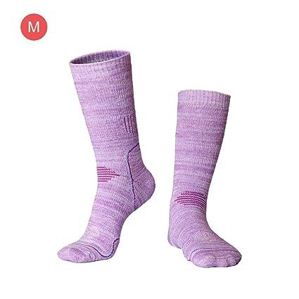 Calcetines de esquí para hombre Cálidos y cómodos Calcetines deportivos acolchados Suéter de invierno al aire