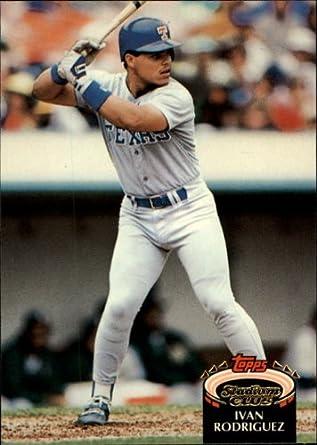 Amazoncom 1992 Stadium Club Baseball Card 415 Ivan Rodriguez Mint