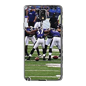 Anti-Scratch Cell-phone Hard Covers For Samsung Galaxy Note 3 (yDM28542NXbW) Allow Personal Design Trendy Baltimore Ravens Image