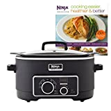 Ninja 3-in-1 6 Quart Stovetop Oven Slow Cooker Cooking System + 150 Recipe Book