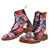 zodiac kids boots - InterestPrint girl in the mask of a lion symbolizes the zodiac Print Lace Up Boots Fashion Shoes For Women