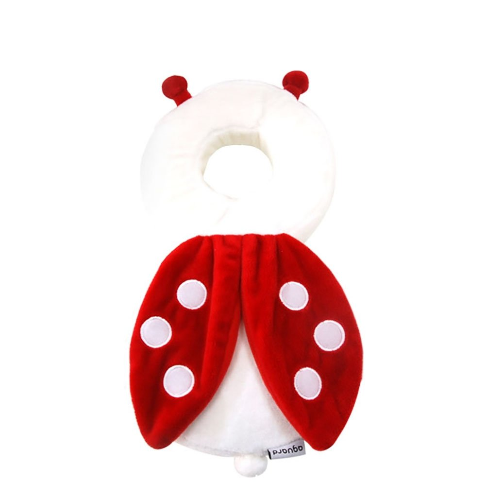IGuardYou Baby Toddlers Head Protective Adjustable Infant Safety Pads for Baby Walkers Protective Head and Shoulder Protector Prevent Head Injured for Crawling Baby (Ladybug)