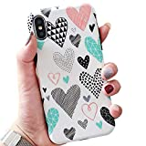 Software : BOFTALE Cute Case for iPhone XR, Girls Women Pretty Case with Love-Hearts Pattern Design Slim Soft Protective Phone Case Cover Compatible with iPhone XR (White)