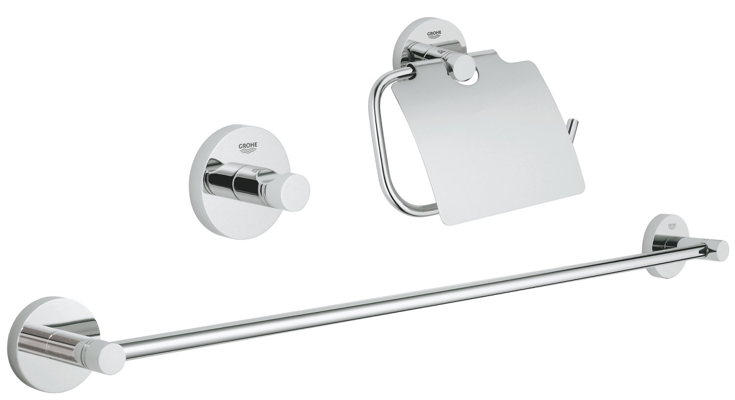 GROHE 40757001 | Essentials Cube 3-in-1 Bathroom Set