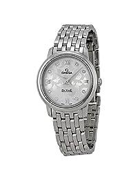 Omega De Ville Prestige Silver Diamond Dial Stainless Steel Ladies Watch 42410276052001