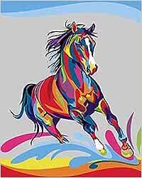 Kit de pintura al óleo por números de bricolaje para adultos principiantes niños carreras de caballos 40x50 cm-sin marco