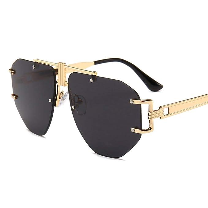 Amazon.com: Gafas de sol sin marco de gran tamaño para ...