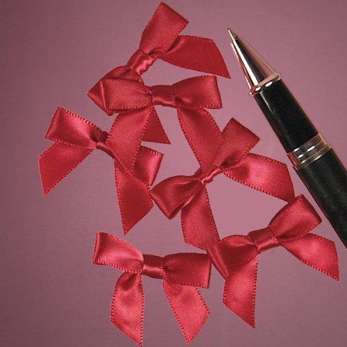 - Mini Red Satin Bows - 1 3/8 x 1 - 50 Pack