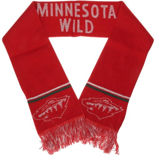 NHL Forever Collectibles METALLIC THREAD Scarf Minnesota Wild