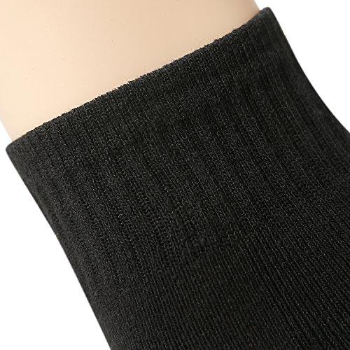 CelerSport Men's Running Athletic Cushion Arch Support Performance Ankle Socks 6 Pack Black by CS CELERSPORT (Image #4)