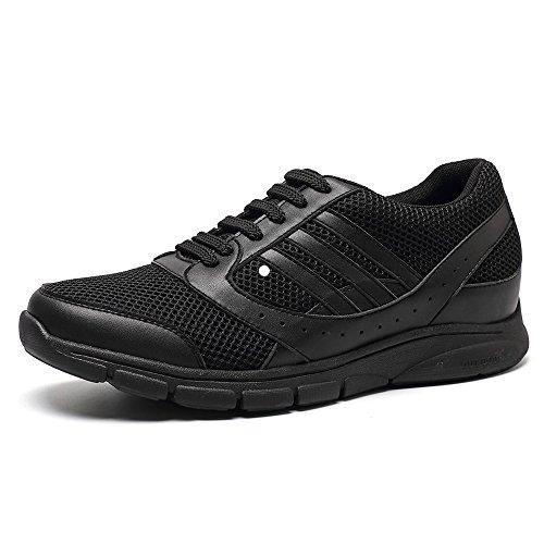 CHAMARIPA-Mens Elevator Laufschuhe Sport Athletic Trainer Sneakers Schwarz-Taller 7cm / 2,76 - X63B19