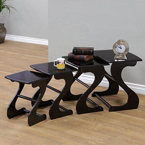 Frenchi Home Furnishing Nesting Tables (Set of 4) (Heritage Cherry Vanity)