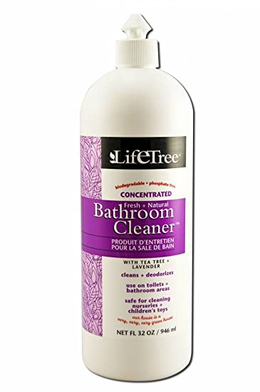 Amazoncom Life Tree Products Household Cleaner Fresh Natural - Natural bathroom cleaner