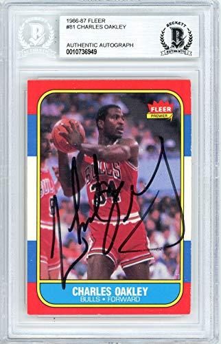 Charles Oakley Autographed 1986 Fleer Card Autographed #81 Chicago Bulls - Beckett Authentic