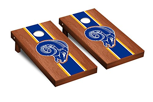NFL Los Angeles Rams Throwback Rosewood Stained Stripe Version Football Corn hole Game Set, One Size by Victory Tailgate