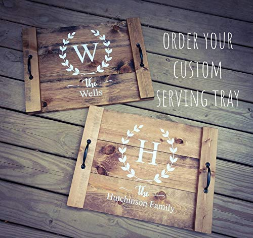 Personalized Rustic Wooden Tray Asst Colors Farmhouse Serving Tray Farmhouse Decor Mini Noodle Board Wood Serving Tray