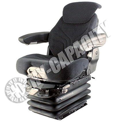 Amazon com: Black & Gray Fabric Seat, w/Air Suspension
