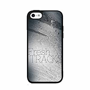 Fresh Tracks Ski Mountain 2-Piece Dual Layer Phone Case Back Cover iPhone 5 5s