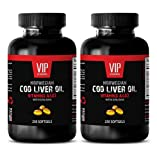 NORWEGIAN COD LIVER OIL with Vitamins A & D3/EPA & DHA - Mental wellness - 2 Bottles 500 Softgels