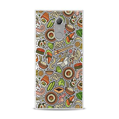 Lex Altern TPU Case for Sony Xperia 1 L3 L2 XZ3 XZ2 Premium XA3 XA2 Sushi Seafood Slim fit Colorful Flexible Green Smooth Gift Tasty Design Cover Kitchen Lightweight Orange Print Clear Pasta Soft]()