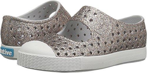(Native Kids Bling Glitter Juniper Water Proof Shoes, Metal Bling/Shell White, 11 Medium US Little Kid )