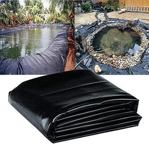 フィッシュポンドライナー2x3m池の皮プール庭の噴水HDPEメンブレン強化保証造園防水ライナー布小さな池、黒(Size:12x12m)