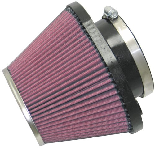 K&N RC-1601 Universal Clamp-On Air Filter: Oval Tapered; 3.938 in (100 mm) Flange ID; 5 in (127 mm) Height; 6.688 in x 5.313 in (170 mm x 135 mm) Base; 4.5 in x 3.25 in (114 mm x 83 mm) Top