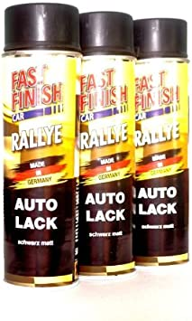 Dupli Color Fast Finish Car Rallye 1k Autolack Schwarz Matt 3 X 500 Ml 292828 3 Auto