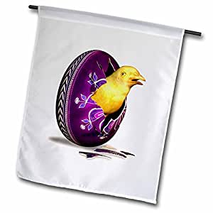 Boehm Graphics Holiday Easter - Easter Chick and Egg 1 - 18 x 27 inch Garden Flag (fl_43231_2)