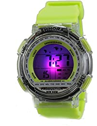 Multi Function Digital LED Water Resistant Sport Watches Green