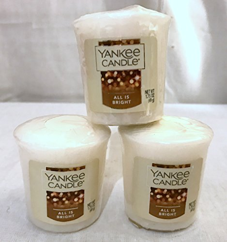 Yankee Candle New Lot of 3 All is Bright Votives