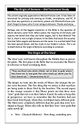 The Origin of Demons - Old Testament Bible Study