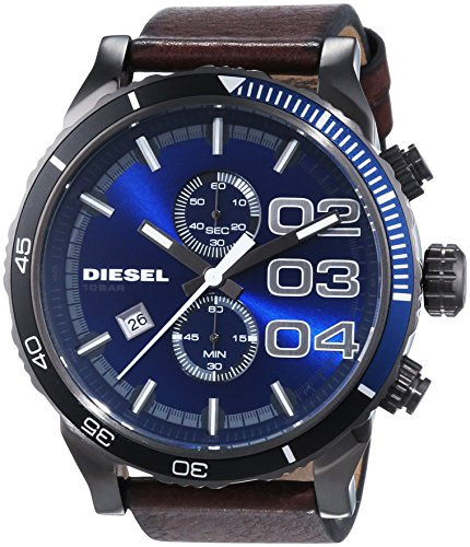 DZ4312 Diesel Double Down 48 Leather Mens Watch